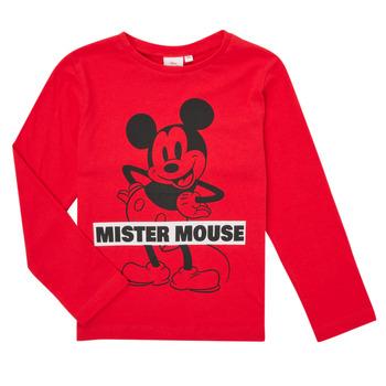 Oblačila Dečki Majice z dolgimi rokavi TEAM HEROES  TEE MICKEY Rdeča