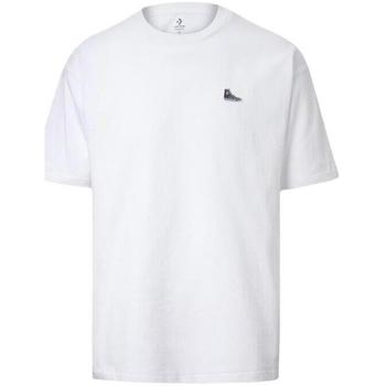 Oblačila Moški Majice s kratkimi rokavi Converse Chuck Taylor Shoe Patch Bela