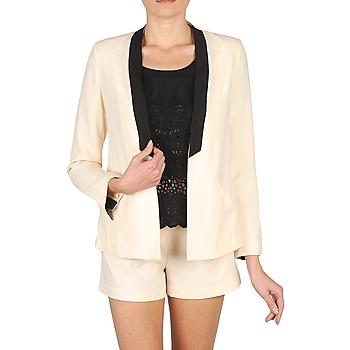 Oblačila Ženske Jakne & Blazerji Stella Forest YVE005 Kremno bela