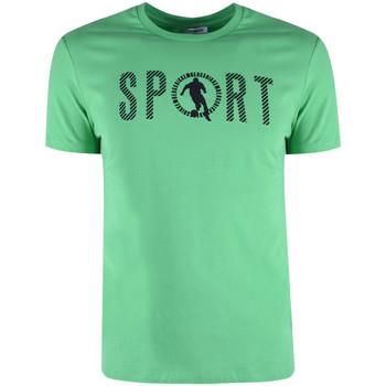 Oblačila Moški Majice s kratkimi rokavi Bikkembergs  Zelena