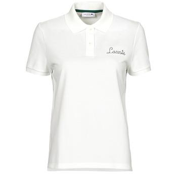 Oblačila Ženske Polo majice kratki rokavi Lacoste PF7251 Bela