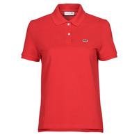 Oblačila Ženske Polo majice kratki rokavi Lacoste POLO REGULAR FIT PF7839 Rdeča