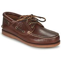 Čevlji  Mokasini & Jadralni čevlji Timberland Classic Boat 3 Eye Padded Collar Kostanjeva