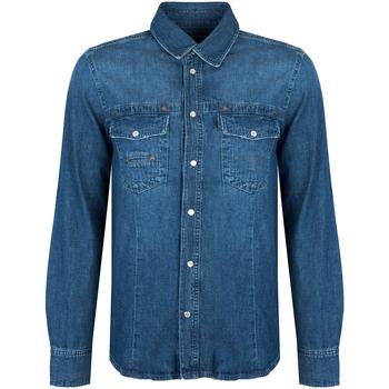 Oblačila Moški Srajce z dolgimi rokavi Bikkembergs  Modra
