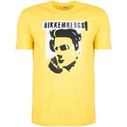 Oblačila Moški Majice s kratkimi rokavi Bikkembergs  Rumena