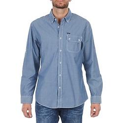 Oblačila Moški Srajce z dolgimi rokavi Lee Cooper Greyven Modra