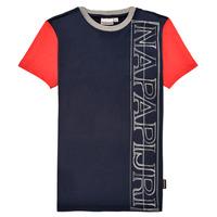Oblačila Dečki Majice s kratkimi rokavi Napapijri SAOBAB Rdeča