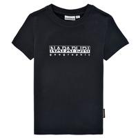 Oblačila Dečki Majice s kratkimi rokavi Napapijri S-BOX SS Črna