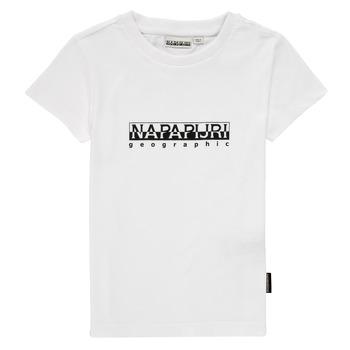 Oblačila Dečki Majice s kratkimi rokavi Napapijri S-BOX SS Bela