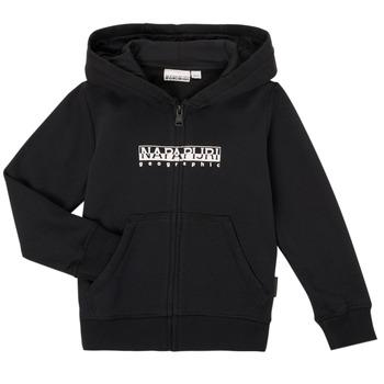Oblačila Dečki Puloverji Napapijri B-BOX FZH Črna