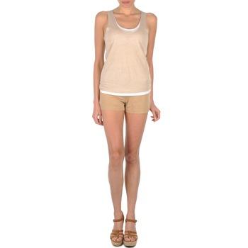 Oblačila Ženske Kratke hlače & Bermuda Majestic SOLENE Bež
