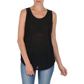 Oblačila Ženske Majice brez rokavov Majestic MANON Črna