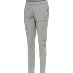 Oblačila Ženske Spodnji deli trenirke  Hummel Pantalon femme  hmlLEGACY tapered gris