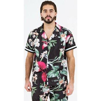 Oblačila Moški Srajce s kratkimi rokavi Sixth June Chemise  tropical noir