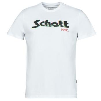 Oblačila Moški Majice s kratkimi rokavi Schott TSLOGOELEK Bela