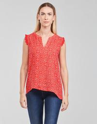 Oblačila Ženske Topi & Bluze Only ONLVIOLETTE Oranžna
