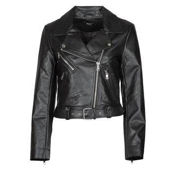 Oblačila Ženske Usnjene jakne & Sintetične jakne Only ONLVERA Črna