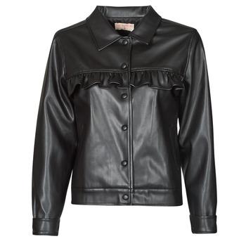 Oblačila Ženske Usnjene jakne & Sintetične jakne Moony Mood PABLIS Črna