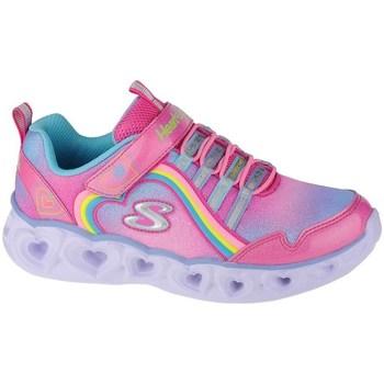 Čevlji  Deklice Fitnes / Trening Skechers Heart Lights Rainbow Lux Roza