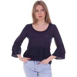 Oblačila Ženske Topi & Bluze Café Noir JM6150 Modra
