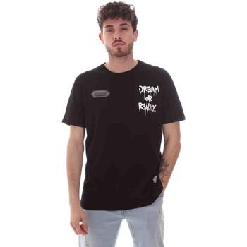 Oblačila Moški Majice s kratkimi rokavi Disclaimer 21EDS50587 Črna
