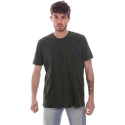 Oblačila Moški Majice s kratkimi rokavi Key Up 2M915 0001 Zelena