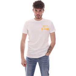 Oblačila Moški Majice s kratkimi rokavi Antony Morato MMKS02002 FA120001 Biely