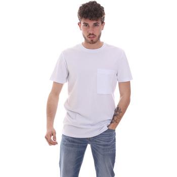 Oblačila Moški Majice s kratkimi rokavi Antony Morato MMKS02023 FA100229 Biely