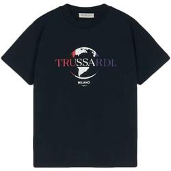 Oblačila Moški Majice s kratkimi rokavi Trussardi 52T00443-1T005227 Črna