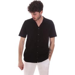 Oblačila Moški Srajce s kratkimi rokavi Antony Morato MMSW01183 YA100063 Črna