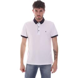 Oblačila Moški Polo majice kratki rokavi Navigare NV82124 Biely