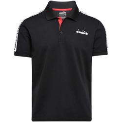 Oblačila Moški Polo majice kratki rokavi Diadora 102175672 Črna