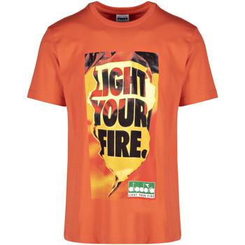 Oblačila Moški Majice s kratkimi rokavi Diadora 502175837 Oranžna
