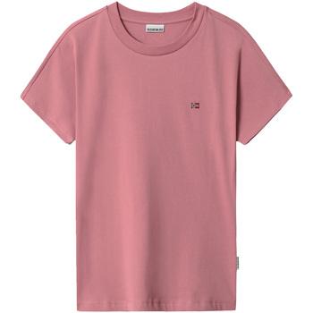 Oblačila Ženske Majice s kratkimi rokavi Napapijri NP0A4FAC Roza