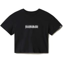 Oblačila Ženske Majice s kratkimi rokavi Napapijri NP0A4EYZ Črna