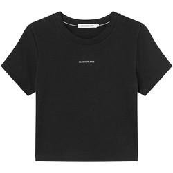 Oblačila Ženske Majice s kratkimi rokavi Calvin Klein Jeans J20J215699 Črna