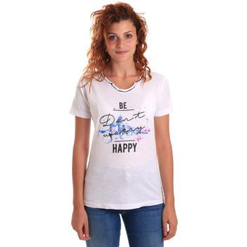 Oblačila Ženske Majice s kratkimi rokavi Key Up 5G63S 0001 Biely