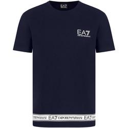Oblačila Moški Majice s kratkimi rokavi Ea7 Emporio Armani 3KPT05 PJ03Z Modra