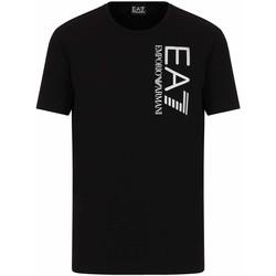 Oblačila Moški Majice s kratkimi rokavi Ea7 Emporio Armani 3KPT10 PJ7RZ Črna