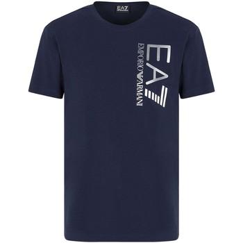 Oblačila Moški Majice s kratkimi rokavi Ea7 Emporio Armani 3KPT10 PJ7RZ Modra