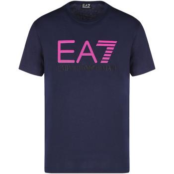Oblačila Moški Majice s kratkimi rokavi Ea7 Emporio Armani 3KPT78 PJACZ Modra