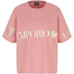 Oblačila Ženske Majice s kratkimi rokavi Ea7 Emporio Armani 3KTT18 TJ29Z Roza