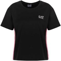 Oblačila Ženske Majice s kratkimi rokavi Ea7 Emporio Armani 3KTT21 TJ29Z Črna