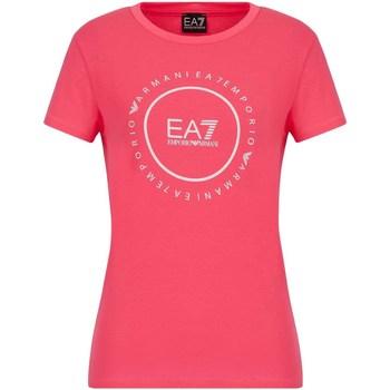 Oblačila Ženske Majice s kratkimi rokavi Ea7 Emporio Armani 3KTT22 TJ1TZ Roza