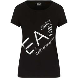 Oblačila Ženske Majice s kratkimi rokavi Ea7 Emporio Armani 3KTT28 TJ12Z Črna