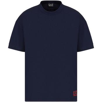 Oblačila Moški Majice s kratkimi rokavi Ea7 Emporio Armani 3KPT58 PJ02Z Modra