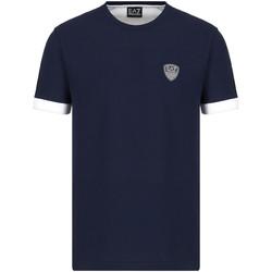 Oblačila Moški Majice s kratkimi rokavi Ea7 Emporio Armani 3KPT56 PJ4MZ Modra