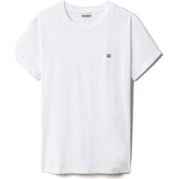 Oblačila Ženske Majice s kratkimi rokavi Napapijri NP0A4FAC Biely
