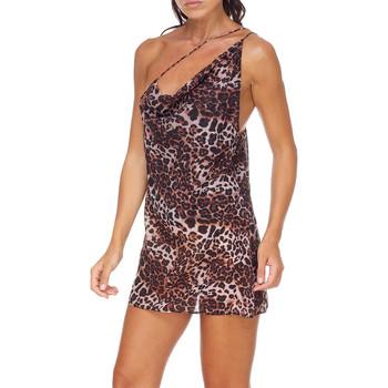 Oblačila Ženske Kratke obleke Me Fui M20-0456X1 Rjav