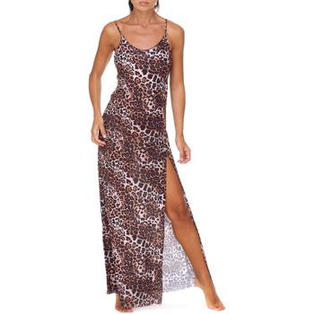 Oblačila Ženske Dolge obleke Me Fui M20-0462X1 Rjav